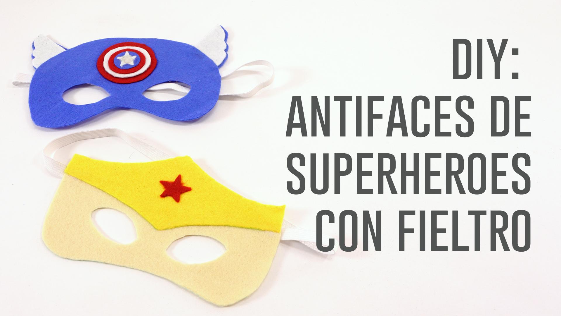 ANTIFAZ SUPERHEROE FIELTRO.Imagen fija001