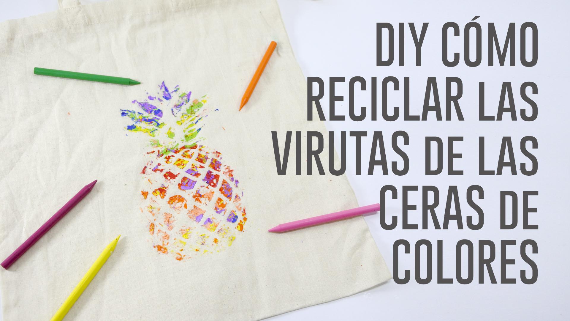 DIY RECICLAR VIRUTAS CERAS COLORES.Imagen fija001