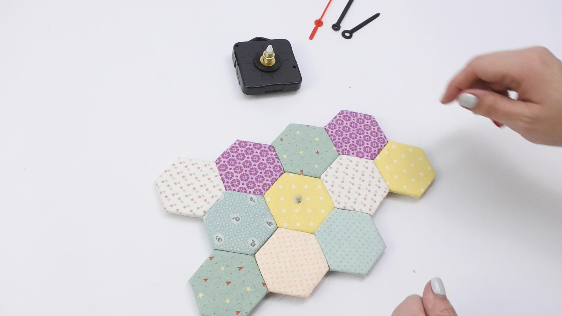 diy reloj falso patchwork 47