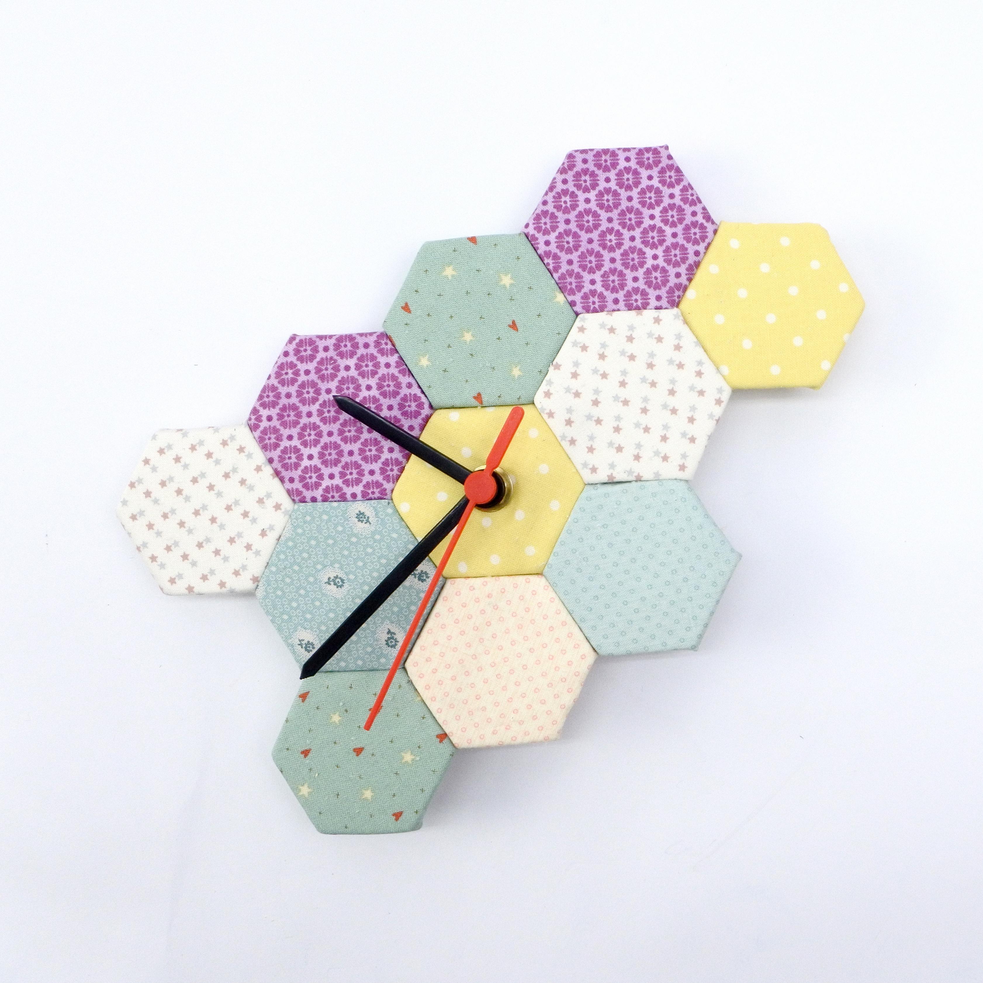 diy reloj falso patchwork 60